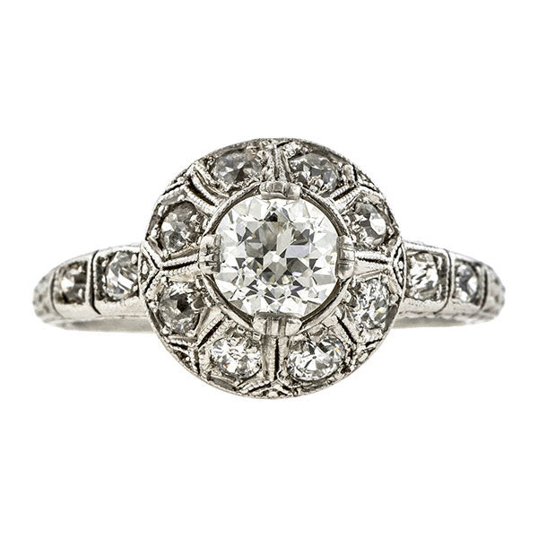 Art Deco Engagement Ring, Old Euro 0.61ct :: Doyle & Doyle