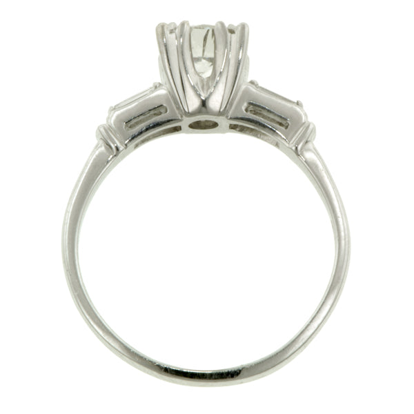 Vintage Engagement Ring, RBC 0.60ct