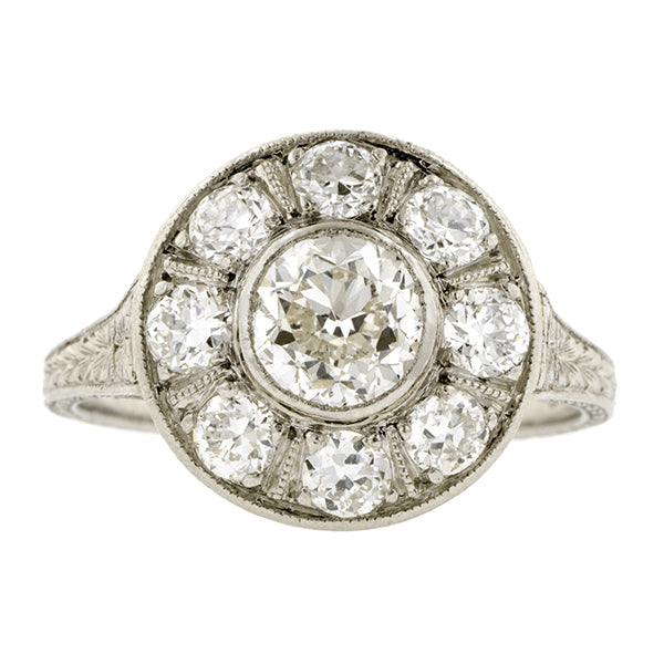 Art Deco Engagement Ring, RBC 0.80ct:: Doyle & Doyle