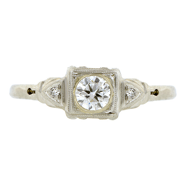 Vintage Diamond Engagement Ring, RBC 0.27ct:: Doyle & Doyle