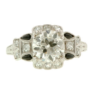 Art Deco Engagement Ring, Old Euro 1.41ct