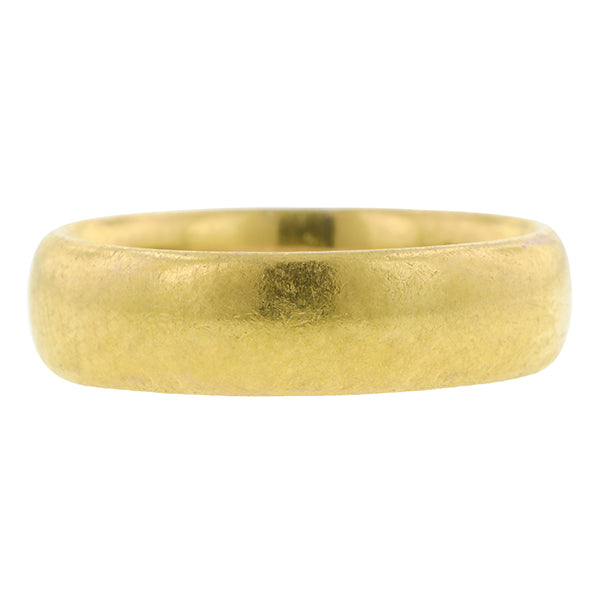 Antique ring: a Yellow Gold Band sold by Doyle & Doyle vintage and antique jewelry boutique.