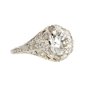 Edwardian Style Engagement Ring, Old Euro 2.01ct:: Doyle & Doyle