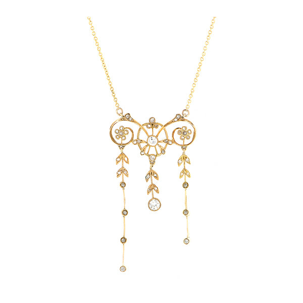 Belle Epoque Diamond Drop Necklace::Doyle & Doyle