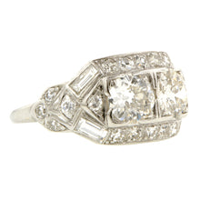 Art Deco Twin Stone Engagement Ring, Old Euro 1.10ctw:: Doyle & Doyle