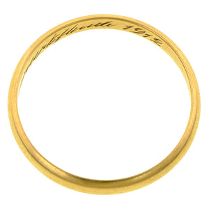 Edwardian Gold Wedding Band Ring :: Doyle & Doyle