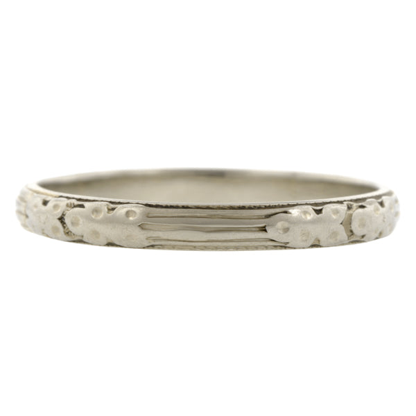 Art Deco Patterned Wedding Band:: Doyle & Doyle