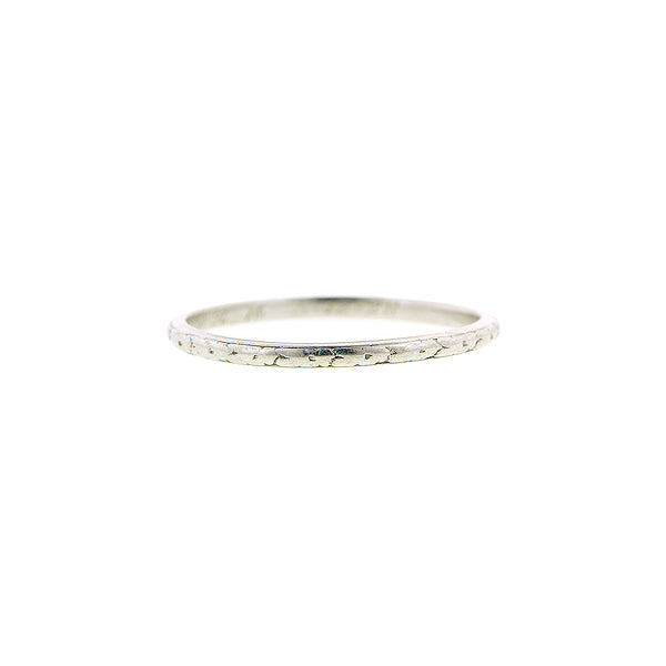 Art Deco Patterned Platinum Wedding Band::Doyle & Doyle