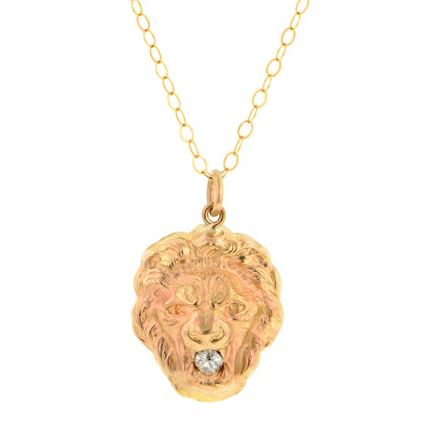 Lion Head Pendant Diamond mouth :: Doyle & Doyle