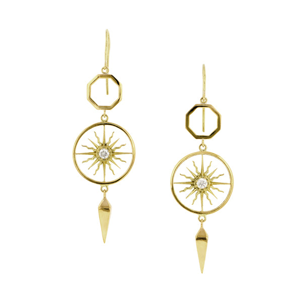 Sunburst Drop Earrings- Heirloom by Doyle & Doyle