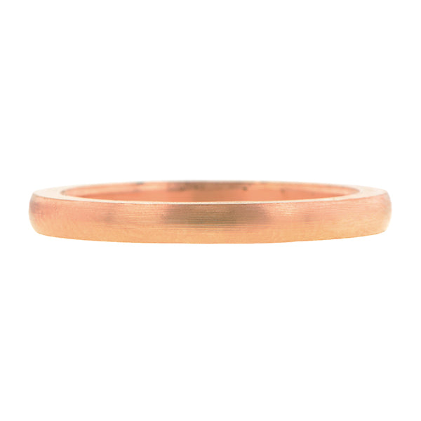 Comfort Fit Rose Gold Wedding Band Ring:: Doyle & Doyle