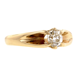 Vintage Diamond Solitaire Engagement Ring, Old Mine 0.55ct:: Doyle & Doyle