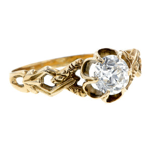 Vintage Solitaire Engagement Ring, Old European Doyle & Doyle