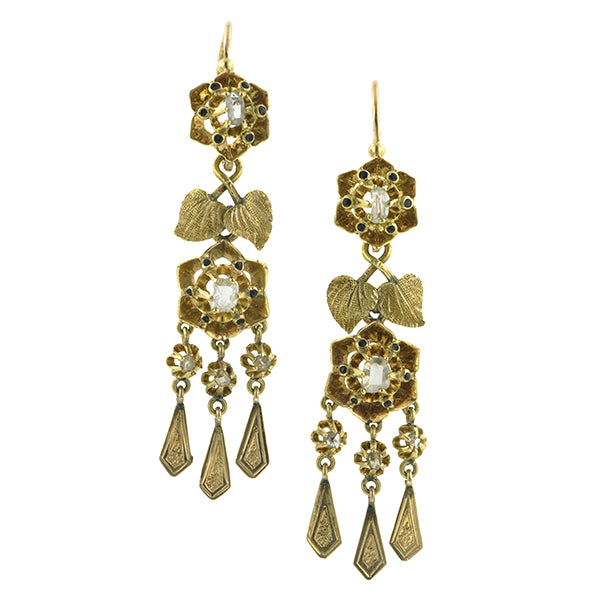 Antique Diamond Drop Day/ Night Earrings:: Doyle & Doyle