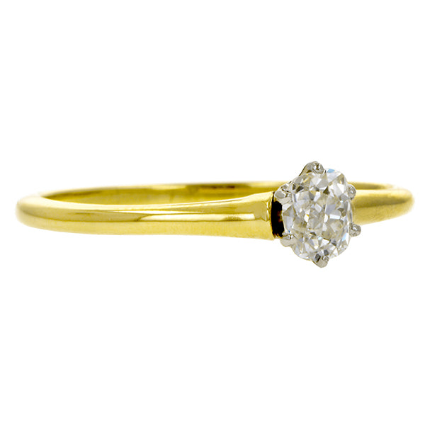Vintage Solitaire Engagement Ring, Old Mine 0.46ct:: Doyle & Doyle