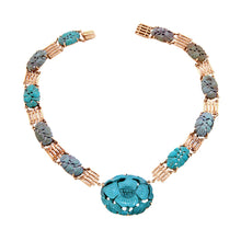 Vintage Carved Turquoise Necklace