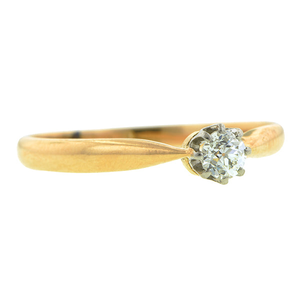 Antique Diamond Solitaire Engagement Ring, 0.15ct Old European