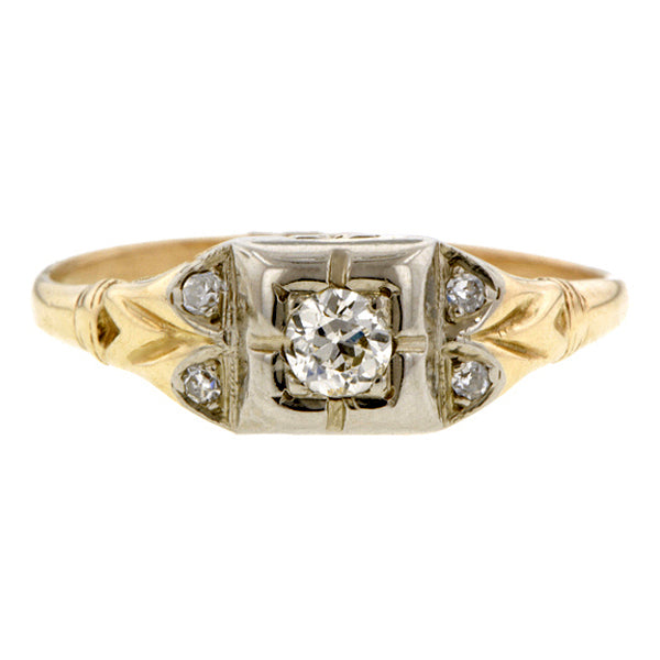 Art Deco Diamond Ring, Old European Doyle & Doyle