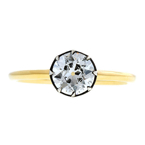 Starry Night Diamond Engagement Ring, Old Euro 1.01ct. - Heirloom by Doyle & Doyle