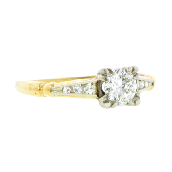 Vintage Diamond Engagement Ring, RBC 0.36ct::Doyle & Doyle