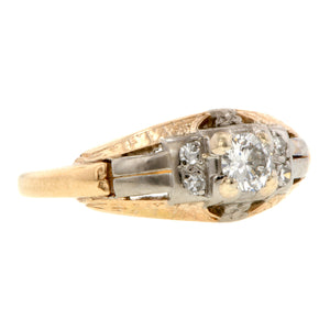 Vintage Engagement Ring, RBC 0.20ct::Doyle & Doyle