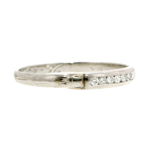 Art Deco Diamond Wedding Band: :Doyle & Doyle