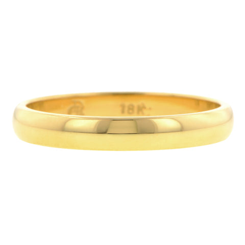 Comfort Fit Wedding Band Ring, 3mm 18ky