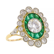 Diamond & Emerald Frame Ring, TRB 1.03ct::Doyle & Doyle