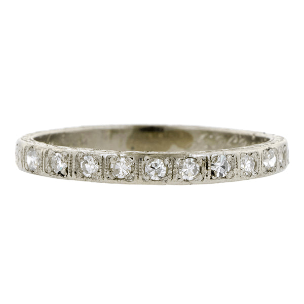 Art Deco Diamond Wedding Band Ring::Doyle & Doyle