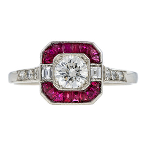 Estate Diamond & Ruby Ring, RBC 0.35ct:: Doyle & Doyle
