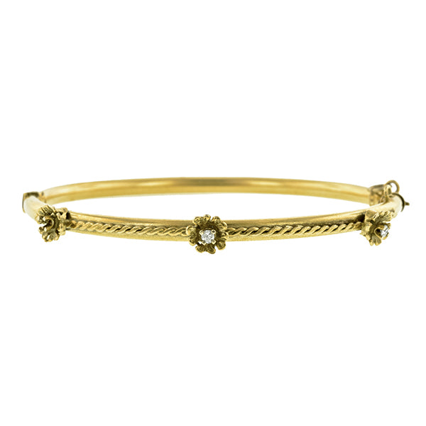 Antique Diamond Bangle Bracelet:: Doyle & Doyle
