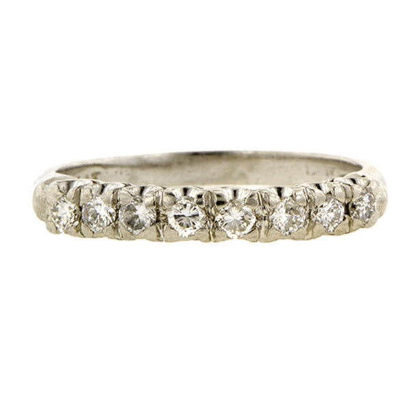 Vintage Diamond Wedding Band::Doyle & Doyle