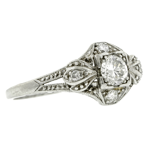 Art Deco Engagement Ring, TRB; 0.28ct:: Doyle & Doyle