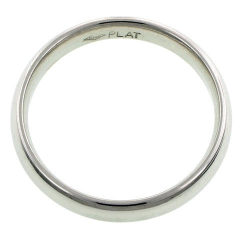 Comfort Fit Wedding Band Ring, 4mm Platinum
