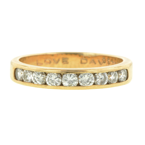 Vintage Diamond Wedding Band::