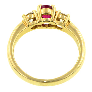 Estate Ruby & Diamond Ring : Doyle & Doyle