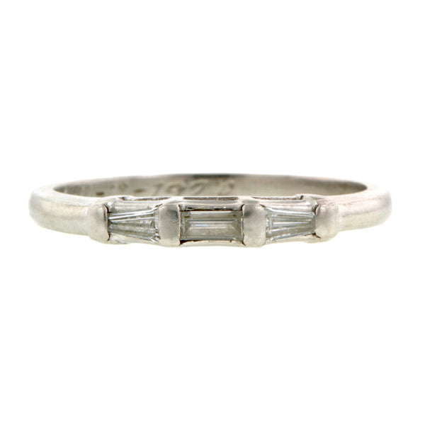 Art Deco Diamond Wedding Band