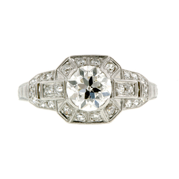 Art Deco Engagement Ring, Old Euro 0.94ct:: Doyle & Doyle