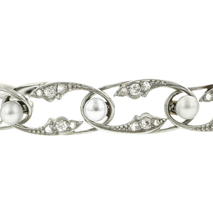 Edwardian Pearl & Diamond Bracelet