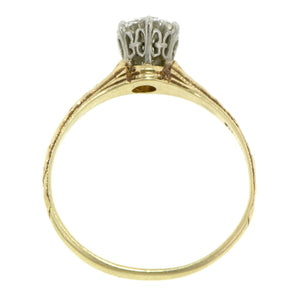Vintage Solitaire Engagement Ring, RBC 0.68ct