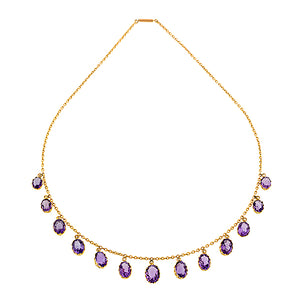 Edwardian Amethyst Fringe Necklace:: Doyle & Doyle