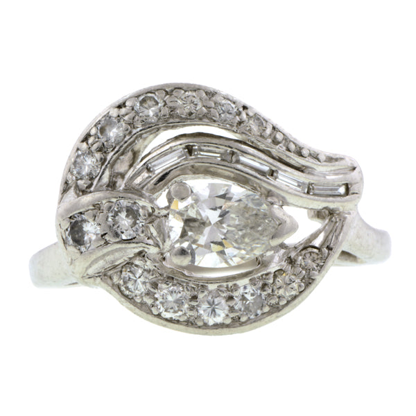 Vintage Pear Shaped Diamond Ring:: Doyle & Doyle