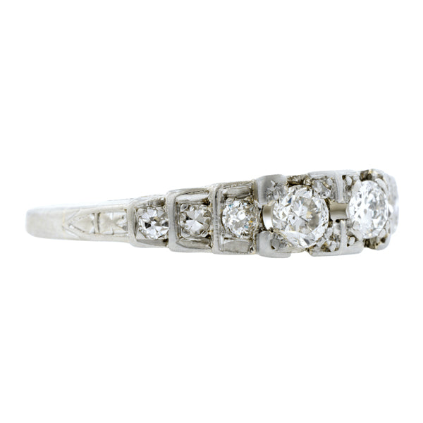 Vintage Twin Stone Diamond Ring