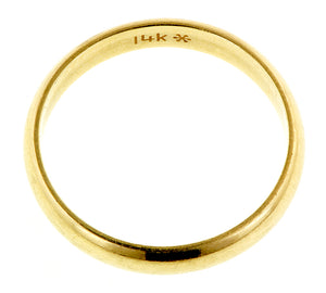 Half Round Gold Wedding Band:: Doyle & Doyle