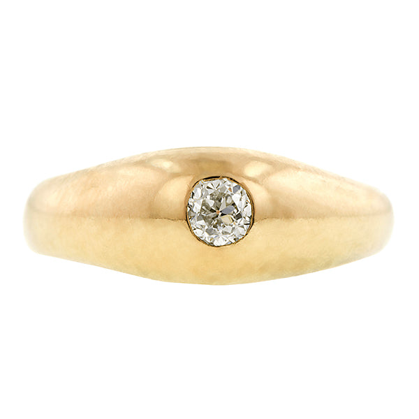 Victorian Gypsy Set Diamond Ring, Old Euro 0.17ct:: Doyle & Doyle