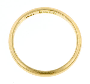 Half Round Gold Wedding Band :: Doyle & Doyle