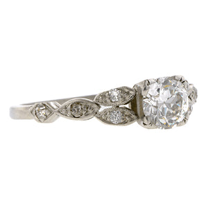 Art Deco Diamond  Engagement Ring, Old Euro 0.51ct