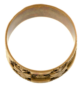 Victorian Wide Patterned Wedding Band