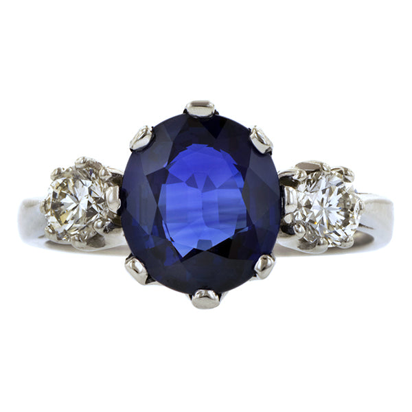 Estate Sapphire & Diamond Ring:: Doyle & Doyle