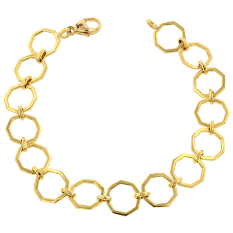 Octagonal Link Chain Bracelet-Heirloom by Doyle & Doyle